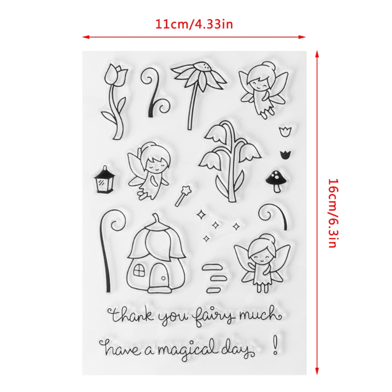 1 Pc High Quality Transparent Silicone Fairy Flower Clear Stamp Silicone Seal DIY Diary Scrapbooking Card Album S28 preminum black brass single handle pull out sprayer kitchen sink cold hot mixing faucet pull down pull out kitchen faucet