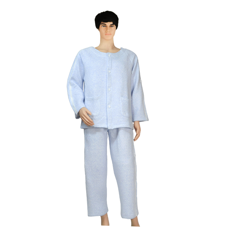 Patient Care Clothes,Easy To Wear,Thickening Cotton Women Pajamas Suitable For Postoperative Rehabilitation Of Fractures Elderly