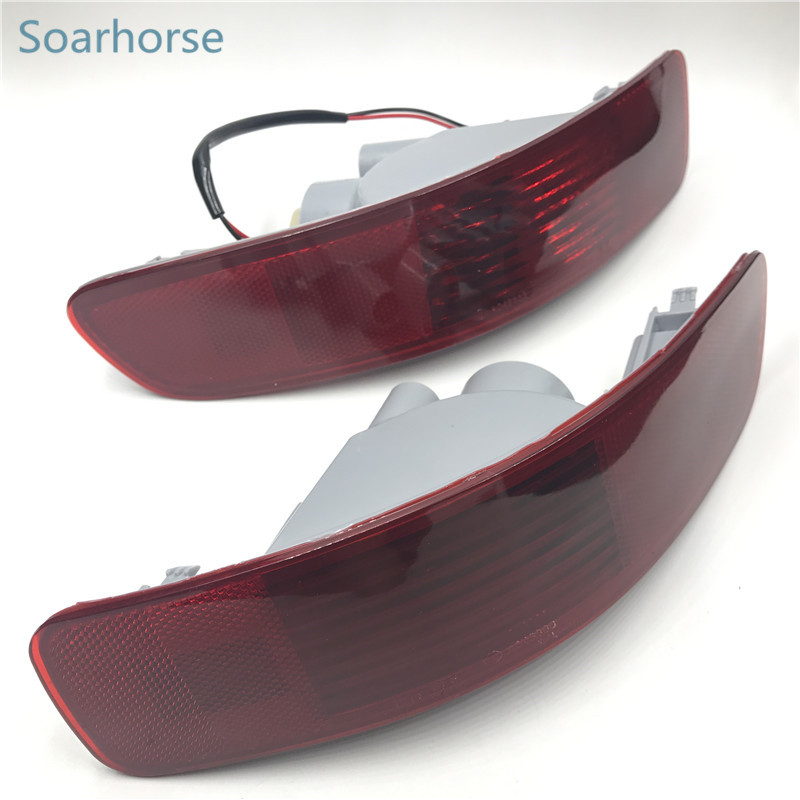 Soarhorse Car Rear Bumper Tail Fog Light brake Reflector Lamp For Mitsubishi Outlander 2007 2008 2009 2010 2011 2012 rear fog lamp spare tire cover tail bumper light fit for mitsubishi pajero shogun v87 v93 v97 2007 2008 2009 2010 2011 2012 2015