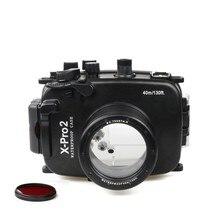 DF Meikon 40m/130ft Underwater Diving Camera Waterproof Case Housings for Fujifilm X-pro2(16-50mm)+MEIKON Red Filter 67mm