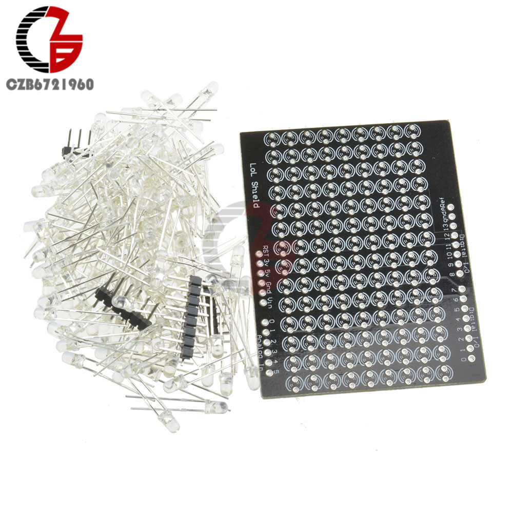 LOL Shield Matrix Lots of LEDs for Arduino Charlieplexed Display DIY Blue light