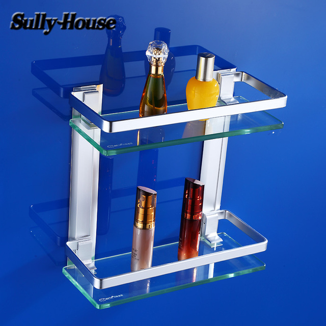 Sully Huis Badkamer Aluminium 8mm Dikte Gehard Glas Dubbele Plank ...