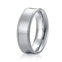 Full USA Size Custom Handmade Pure Titanium Jewelry Unique Mens Rings