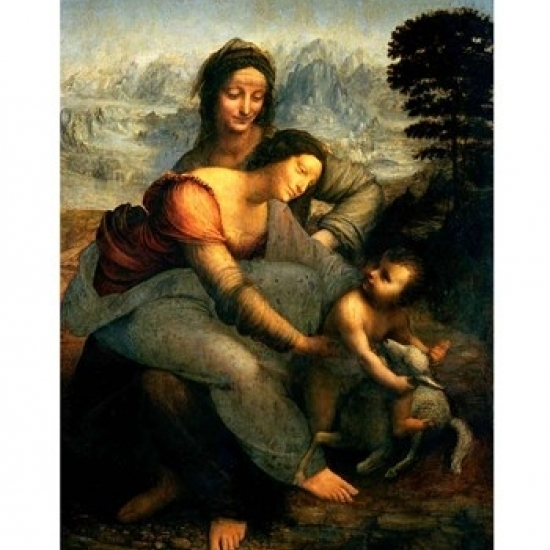 Virgin and Child with St. Anne  c.1510 Poster Print by Leonardo Da Vinci (18 x 24)