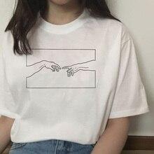 michelangelo david hands print women t shirt t-shirt tshirt femaale clothes aest