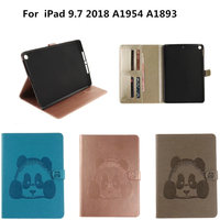 Panda Flip Folio PU Leather Book Case Coque With TPU Back Shell For Apple New IPad