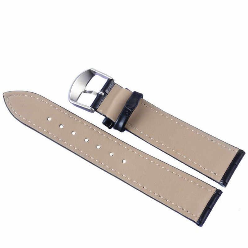 חדש נשים & גברים שעון מלאכותי עור חגורה שחור אדום כחול לבן Watchbands רצועת שעון להקת 14/16/20/22mm אביזרי צמיד