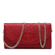 กระเป๋าหนังแท้ผู้หญิงMessengerถุงขนาดเล็กโซ่ผู้หญิงลายจระเข้ผู้หญิงกระเป๋าพรรคเย็นซองกระเป๋าคลัทช์