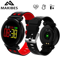 Makibes K2 Smart Bracelet Blood Pressure Smart Watch IP68 Heart Rate Monitor Blood Oxygen Detection Multilingual