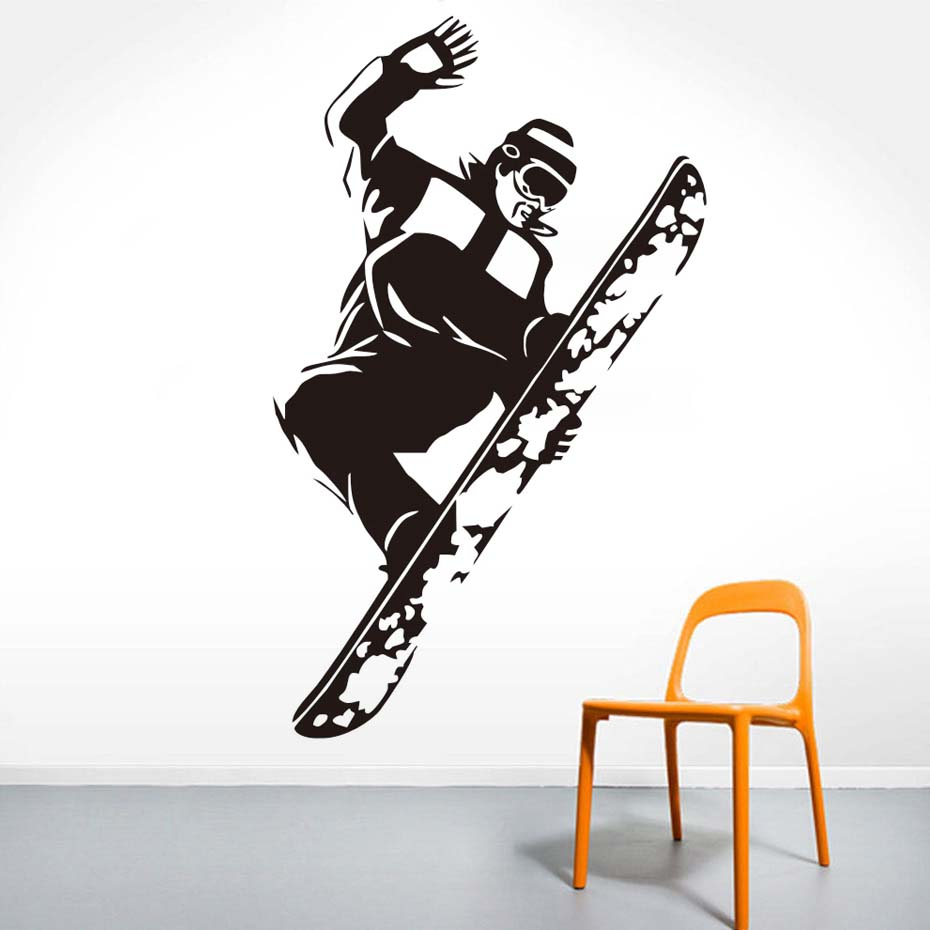 Skate Skateboarding Skater Boy Removable Wall Sticker Snowboard Sports Art Wall Decals Diy Vinyl Mural For Boys Room Home Decor