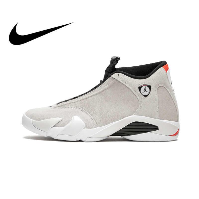 3fa0ae98a90cf2 Original Authentic NIKE Air Jordan 14 Retro Men s Basketball Shoes Sport  Outdoor Sneakers Medium Cut Lace