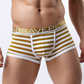 BRAVE PERSON Comfortable Panties Men Male Underwear Mens Boxers Underwear Sexy Striped Cotton Man Undies Boxer Fringe Underpants