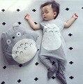 Macacão de bebê Moda Bebê Macacões Totoro 100% Algodão-Manga Curta Ropa Bebe Gril Infantil Macacão Macacão de Bebê Recém-nascido Roupas Menino SYHB