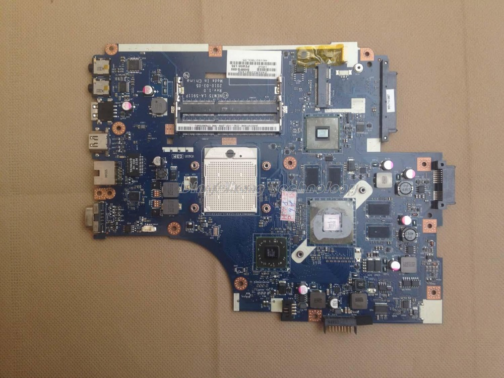 Laptop Motherboard for ACER 5551G 5552G NEW75 LA-5911P notebook mainboard non-integrated HD5650 1GB GPU DDR3Laptop Motherboard for ACER 5551G 5552G NEW75 LA-5911P notebook mainboard non-integrated HD5650 1GB GPU DDR3
