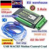 3 Axis NVUM CNC Controller 200KHZ MACH3 USB Motion Control Card for CNC Router Mill Stepper Motor Servo motor from RATTM MOTOR