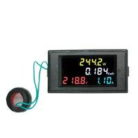 Цвет Экран Цифровой вольтметр переменного тока Амперметр 80 ~ 300 В 100A Мощность счетчик энергии напряжения монитор + CT катушки скидка 40%