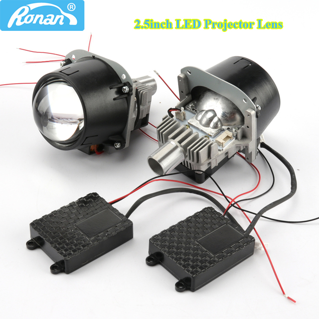 Ronan 70w 2 5inch Bi Led Car Projector Headlights Lens With Led