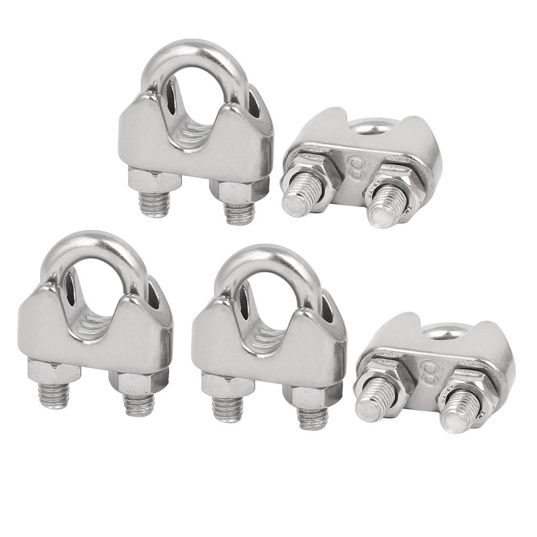 M8 5/16 Inch 304 Stainless Steel U Shape Bolt Saddle Clamps Cable ...