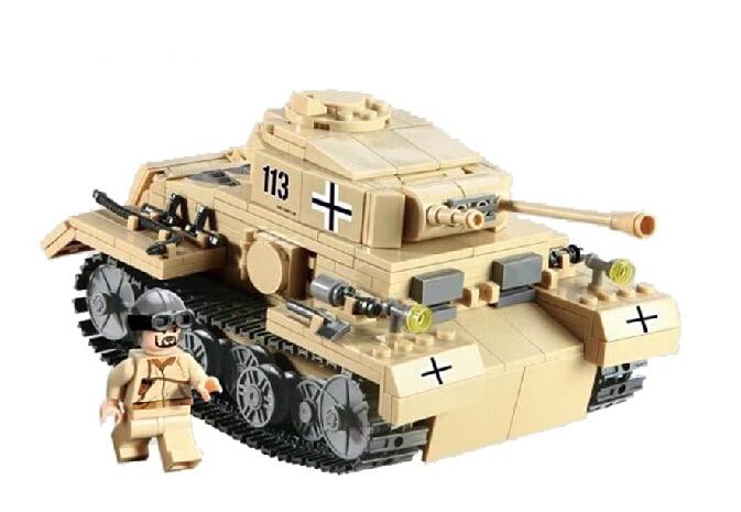 Kazi Model building kits compatible with font b lego b font city World War II tank