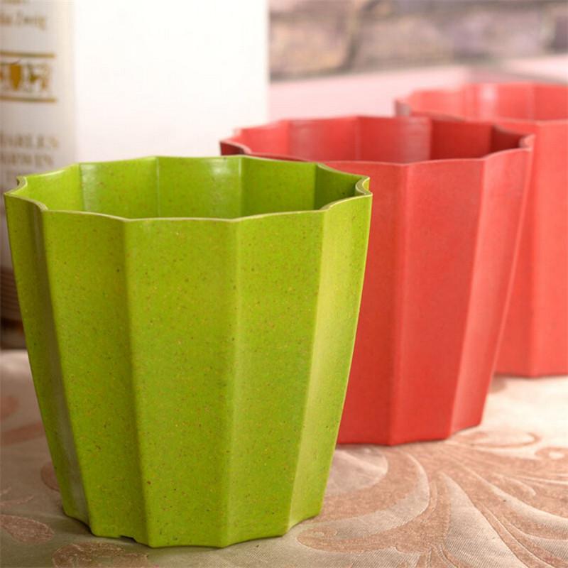 estilo moderno de resina de colores mini flores macetas bonsai con bandejas de plstico macetas de