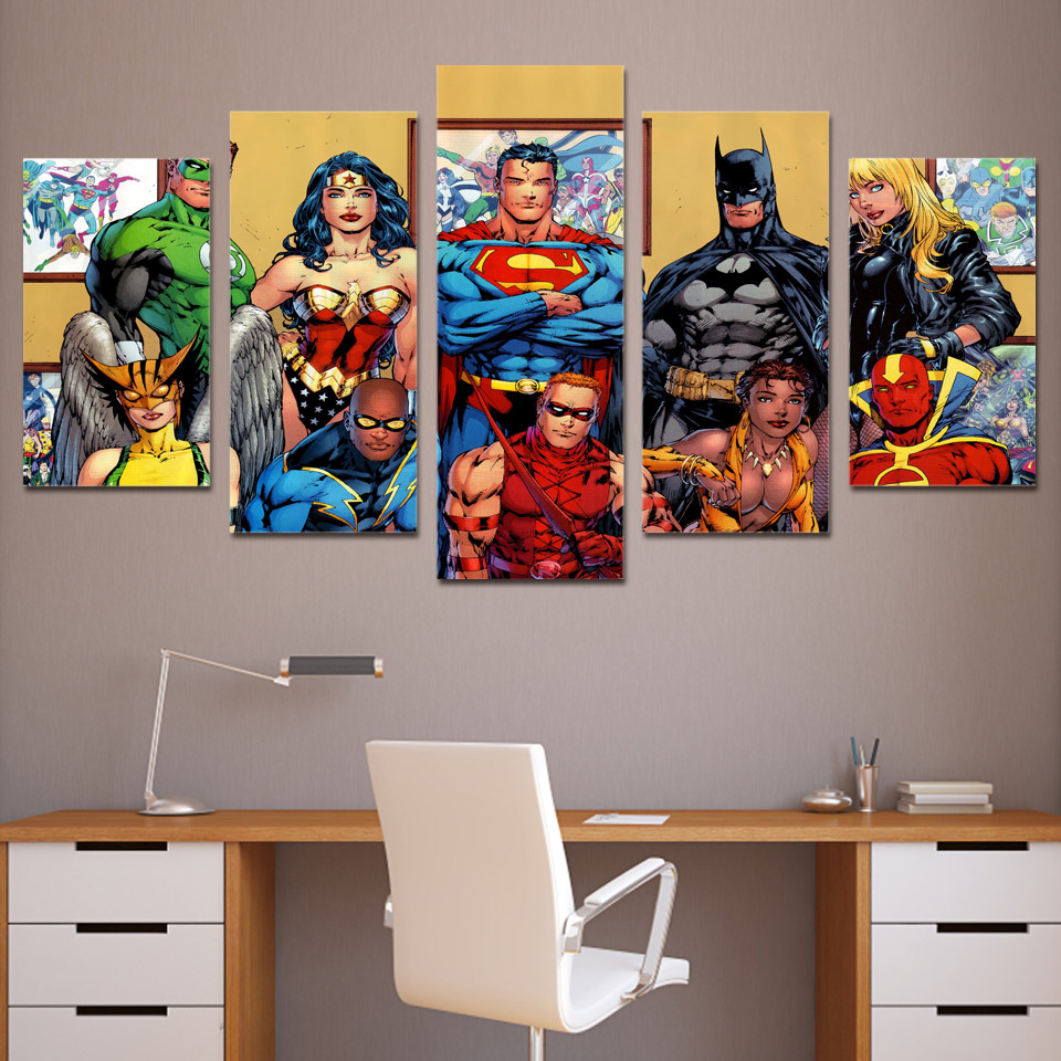 Dc Comics Wall Art online buy wholesale dc comics art poster from china dc comics art