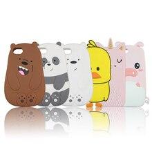 Güzel Silikon iphone için kılıf 5 5 s 6 6 s Artı 7 8 X XR XS Max SE Durumda Panda Polar ayı Kedi Ördek Domuz Sarhoş Sevimli Tele...