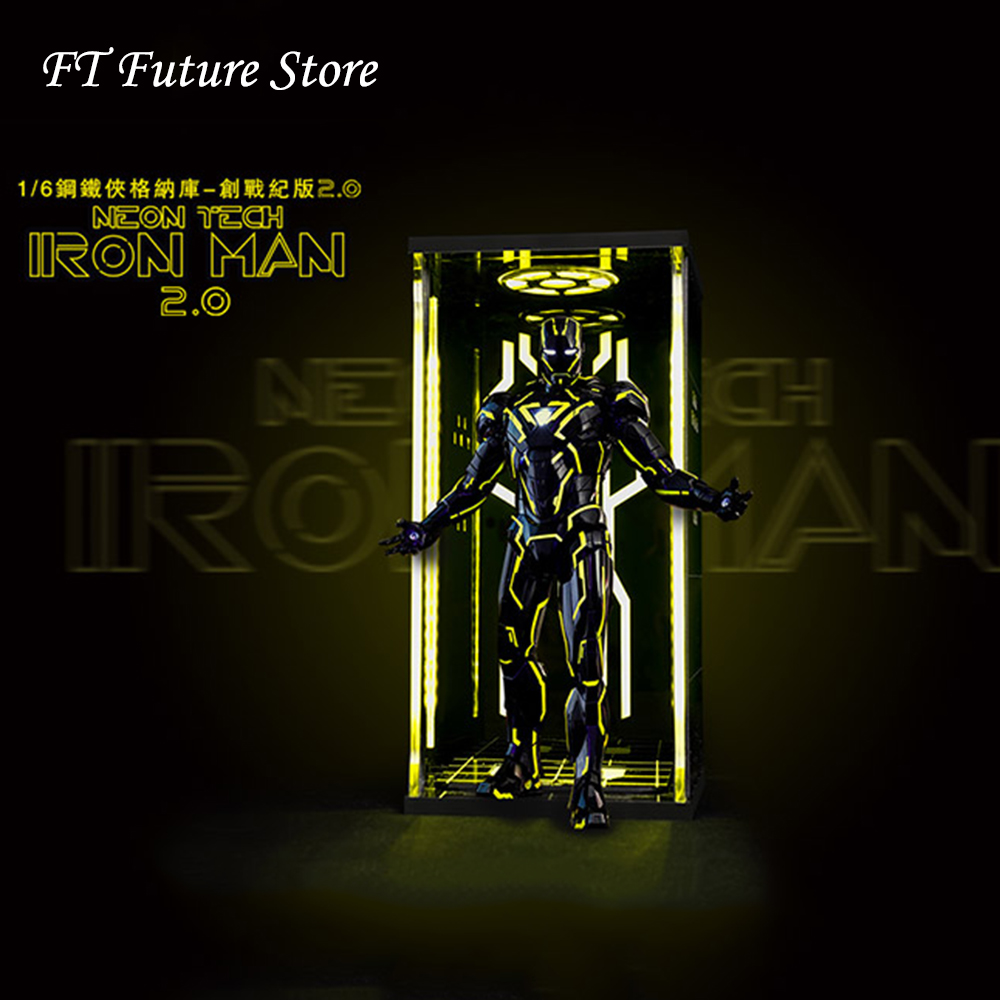 Collectible 1 6 Figure Scene Accessories Comicave Display Box Acrylic Hall Iron Man Mk6 Warfare with