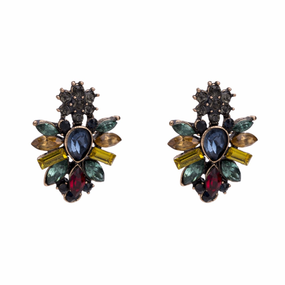 Aliexpress.com   Buy Qiaose New High Quality 2Colros Rhinestone Stud  Earrings for Women Fashion Jewelry Bohemia Maxi Earrings Accessories from  Reliable Stud ... 55d12f03e6d2