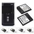 2 pcs 3200 mah substituição bateria li-ion battery com carregador de parede para samsung galaxy grand 2 g7106 bateria do telefone móvel