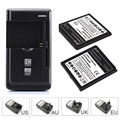 2pcs 3200mAh Replacement Li-ion Battery with Wall Charger For Samsung Galaxy Grand 2 G7106 Mobile Phone Bateria
