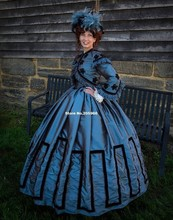 Custom Made – 1800s Victorian Dress 1860s Civil War Day Gown  Jacket Dress- Fringe Tea Party Costume