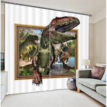 3D Dinosaur Printing Blackout Curtains Bedding Room Living Room Cortians Sunshade Window Curtain 3D Curtains
