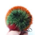 New 10CM Length multicolour Rabbit Fur Ball Cell Phone Car Keychain Pendant Handbag Charm Key Chain PomPom Charm Keyring