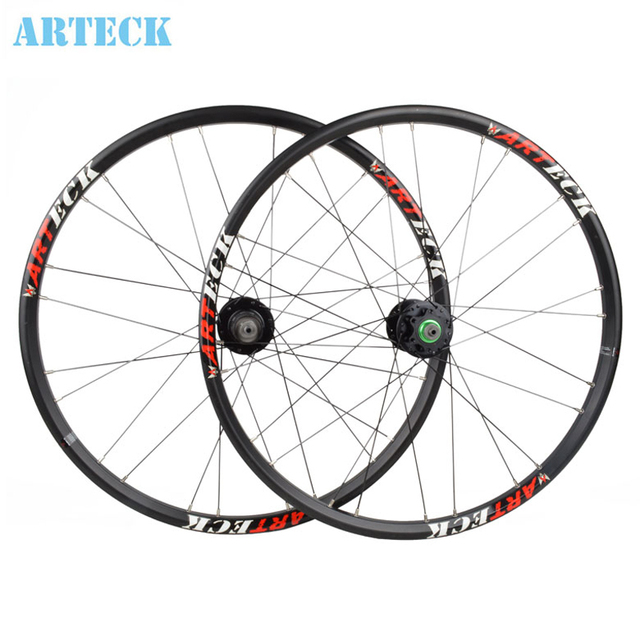 Arteck 24 Inch Mountain Bike Quick Release Wheel Disc Brakes Front And Rear Wheels Single Hub