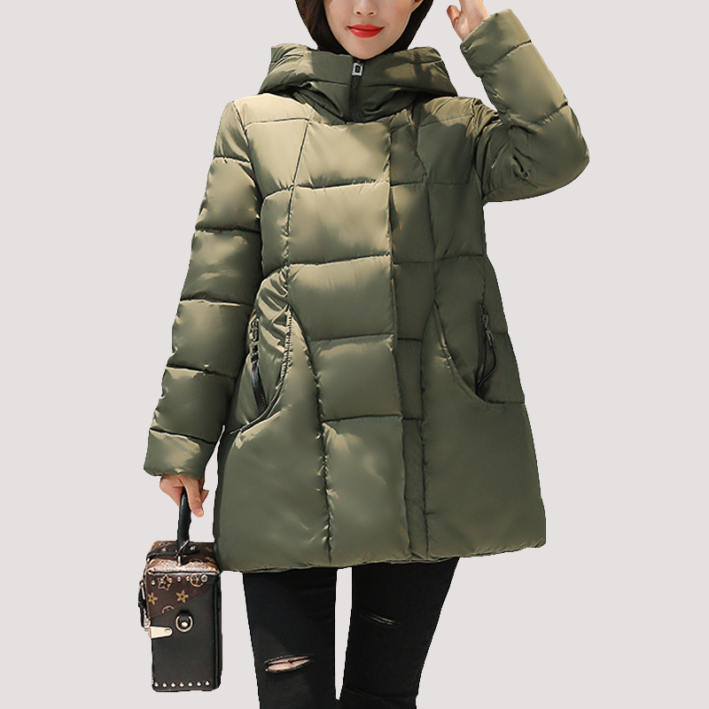 SWENEARO 2017 New women thick Warm coat hooded High Quality Cotton Padded winter jacket women ladies coats Winter Collection swenearo 2017 new women thick warm coat hooded high quality cotton padded winter jacket women ladies coats winter collection