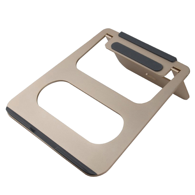 COOSKIN Gold Aluminum alloy Laptop Stand - Lightweight, Portable Notebook Stand for Apple Macbook Air, Pro, Tablet