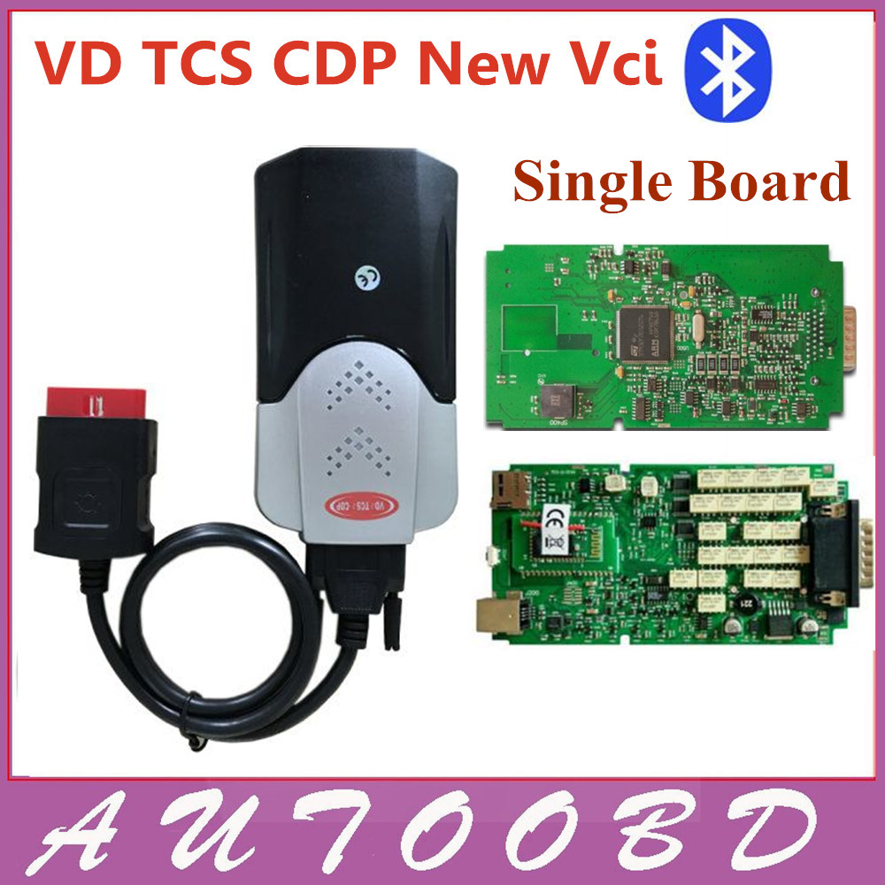 Auto OBD/OBD2 VD TCS CDP PRO Bluetooth Complete Kits Green Single board nec relay with Led on obdii for cars trucks-DHL shipping single green board multidiag pro 2014 r2 keygen