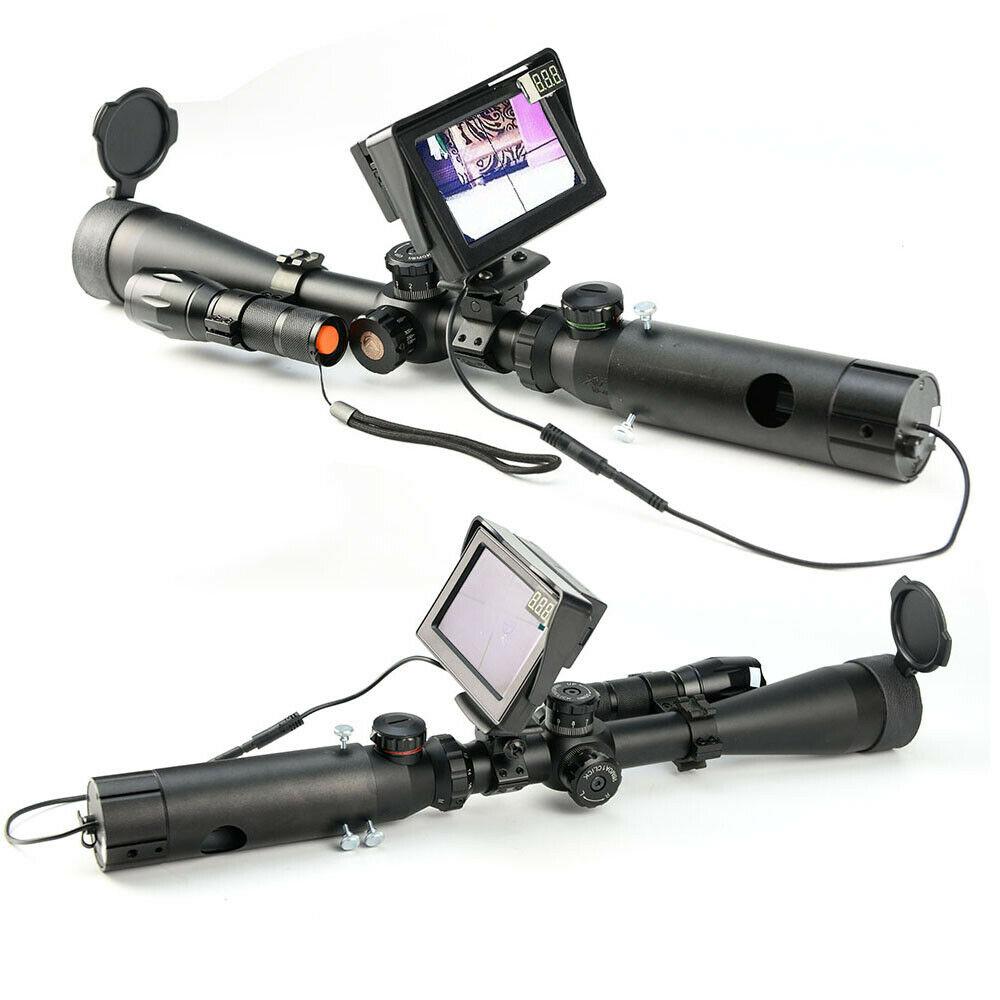 Night Vision Scope Digital Infrared LCD Monitor IR Torch Add on Rifle Scope UK