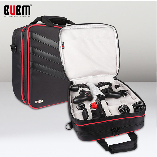 BUBM Game Console Travel Gear Storage Bag Case Organizer Video Player Digital Protector Case For PS4 PRO Playstation