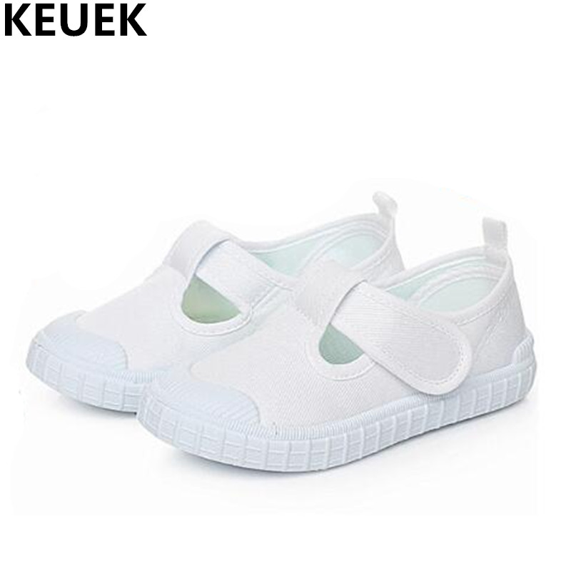New Children Shoes White Casual Student Baby Canvas Shoes Boys Girls Breathable School Indoor and outdoor shoes Kids Flats 019