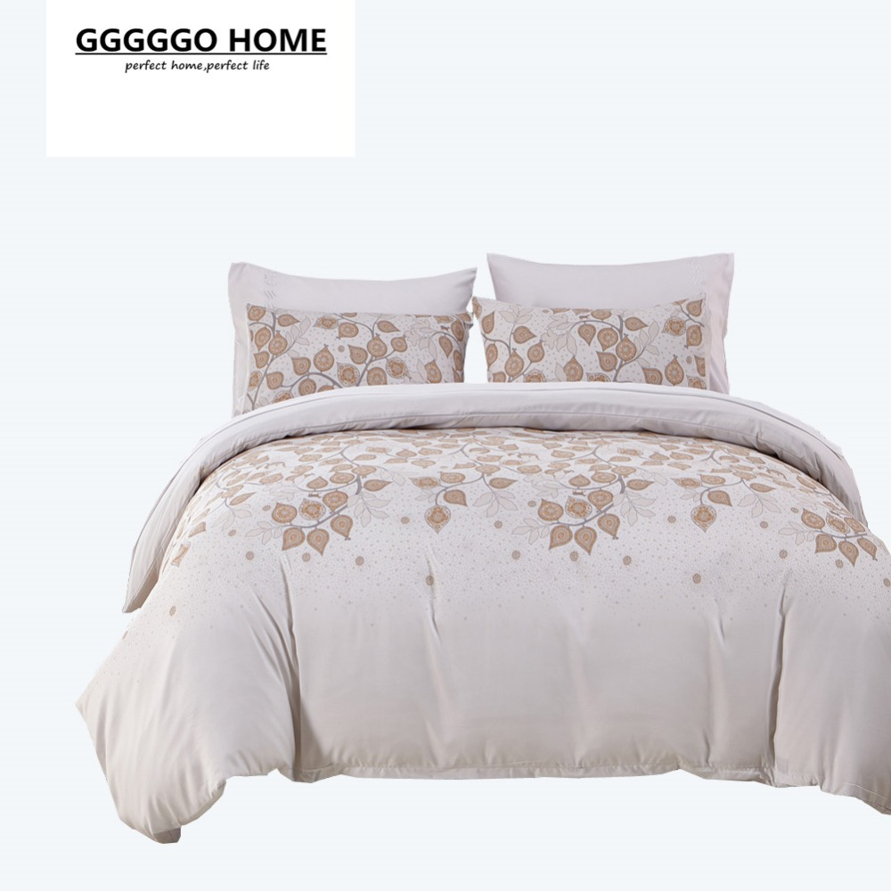 Gggggo home bedding set 3 4pcs microfiber fabric duvet for Bedding fabric bedding