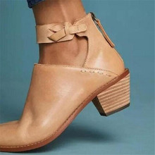 купить New Autumn Women shoes Female Square Heel Slip on Women High heels Shoes Pointed Toe Casual Ladies Fashion Shoes Women по цене 1092.9 рублей