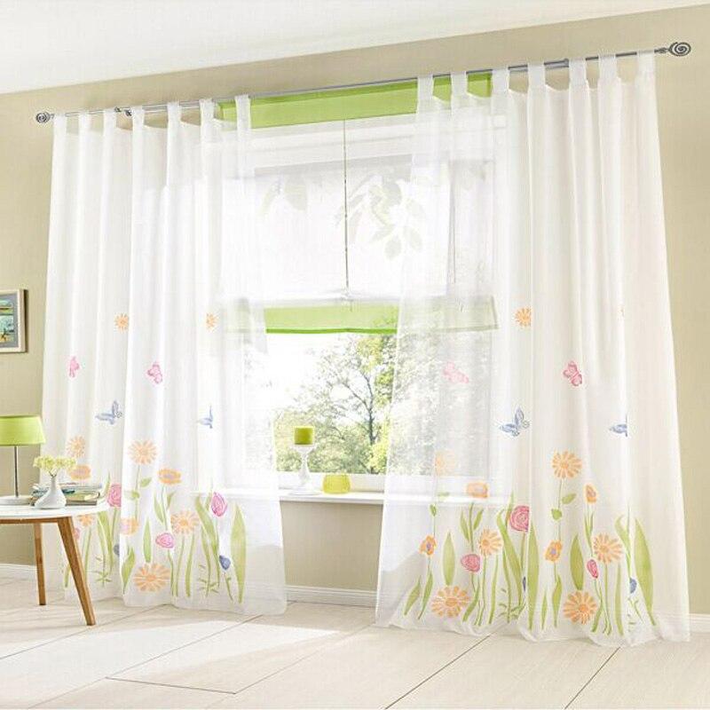 ⊰Organza tulle flor rústica cortina patrones ventana cortina ...