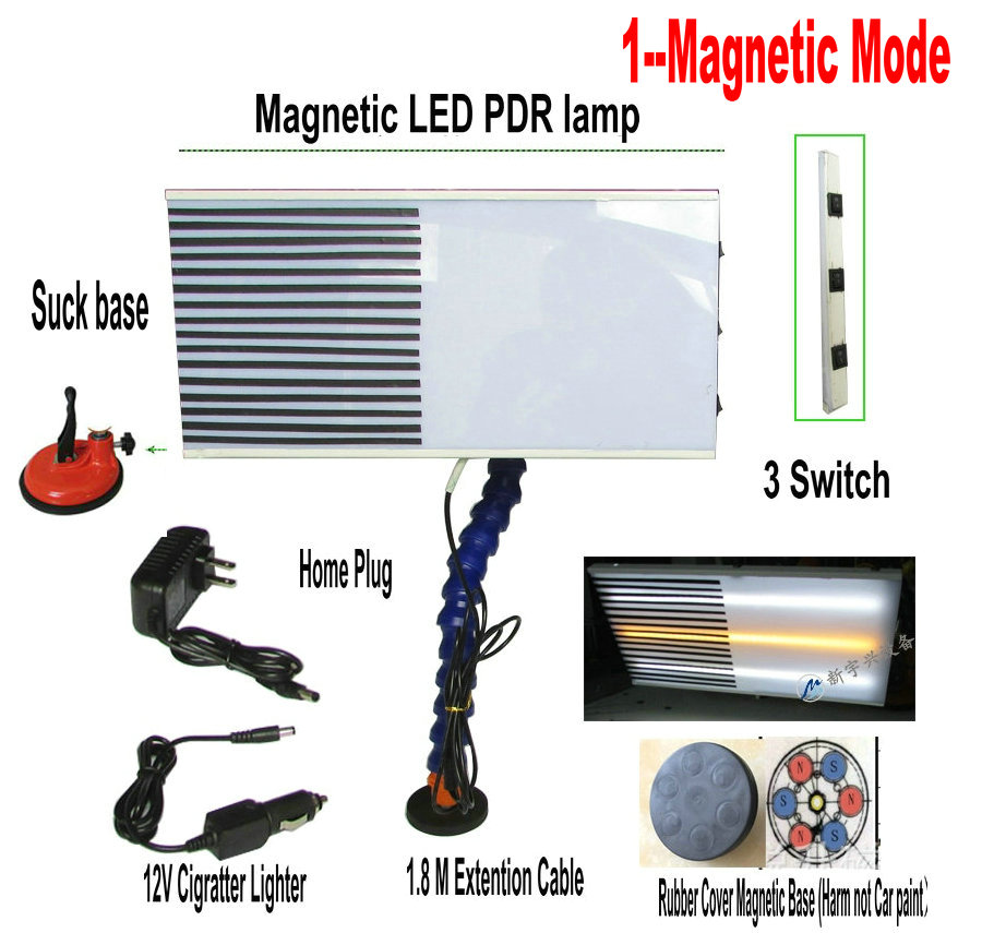 Suck+Magnetic LED PDR Lamp Dent Repair Tools Dent Detector PDR light Master PDR kit lamp board PDR line Board suck uk