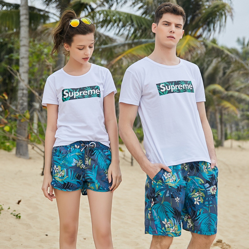 Men Shorts Slim Summer Chiffon Printing Beach Shorts Quick Drying Elastic Waist Board Shorts Men  GX1901