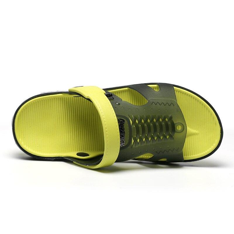 Летние Для мужчин Сад Сандалии Повседневное модные Нескользящие сандалии для Для мужчин, Для мужчин S слегка дышащая обувь большой Размеры ...
