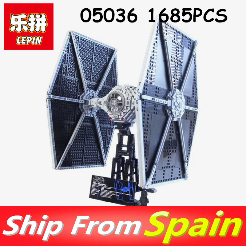 Lepin 05036 1685PCS Star wars The Tie Fighter Educational Building Blocks Compatible legoing 75095 to Brithday Gifts