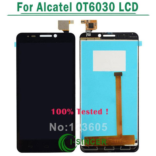 Lcd para alcatel one touch idol ot6030 dual ot6030 6030d 6030x 6030a pantalla lcd táctil digitalizador asamblea