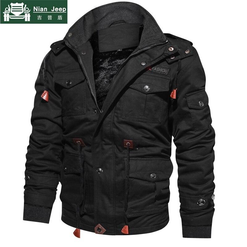 Nouvelle Hiver Polaire Veste Hommes Outwear Chaud Épais À Capuchon Manteaux Hommes Veste Militaire Mâle Haute Qualité Vêtements Plus Taille M-4XL