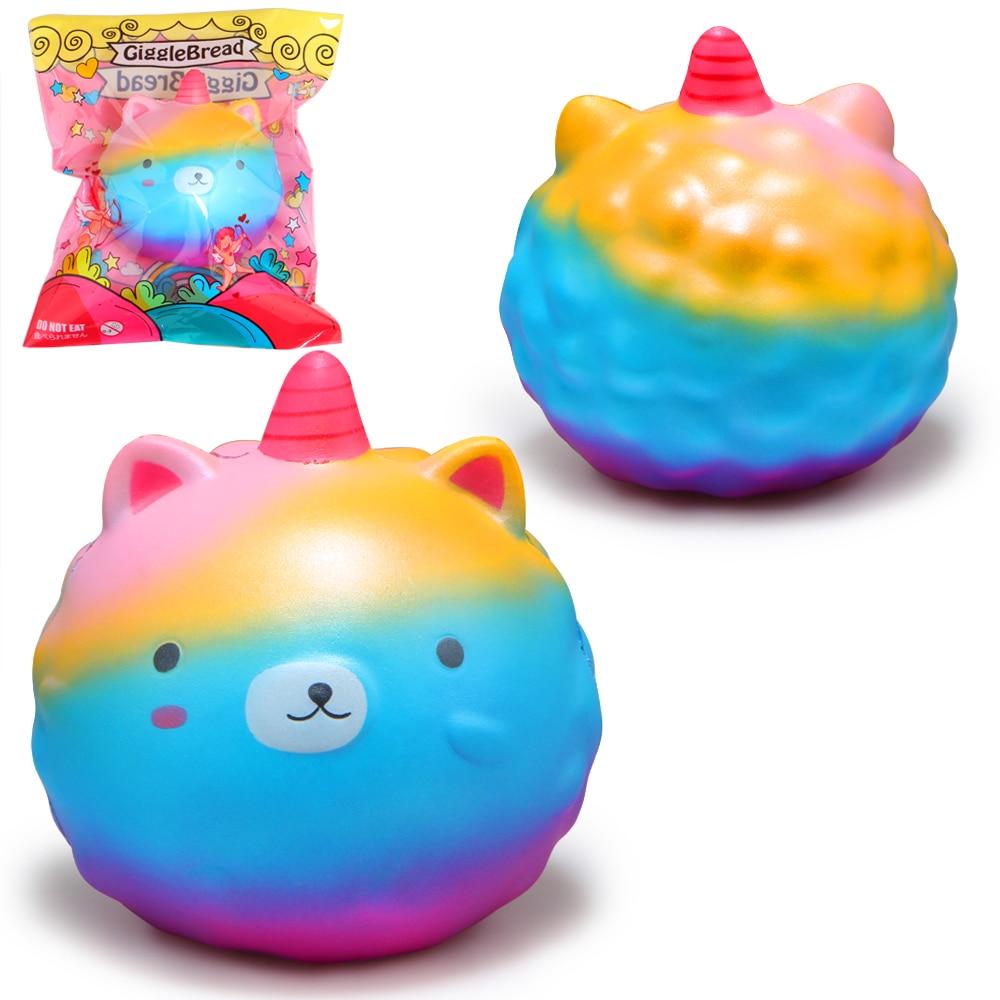 11.5CM Kawaii Big Squishy Slow Rising Jumbo Lanyard Unicorn Toys Squeeze Lanyard For Keys Groot Phone Strap Phone Strap